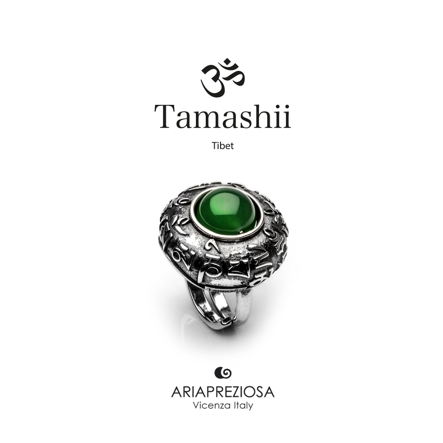 Tamashii Ring DVAGS ZVA Green Agate