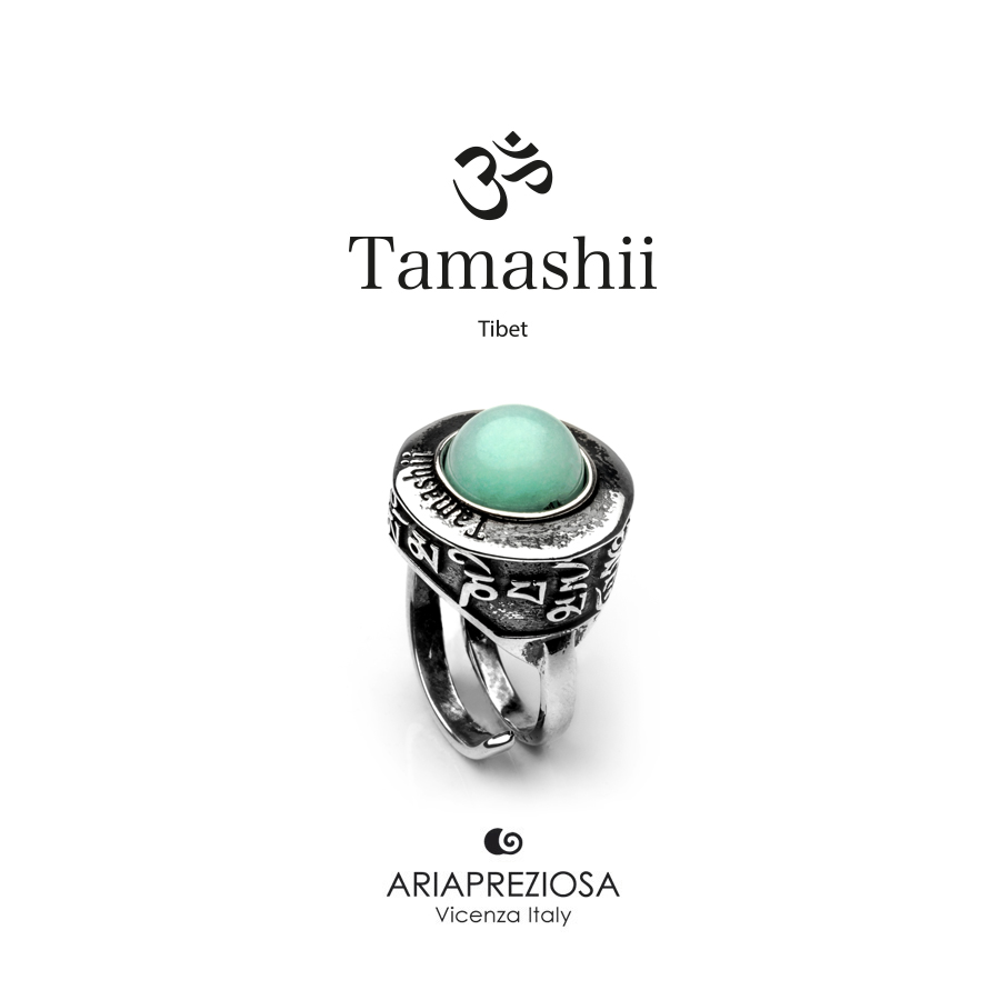Anello Tamashii PAN ZVA Agata Azzurra (Sky)