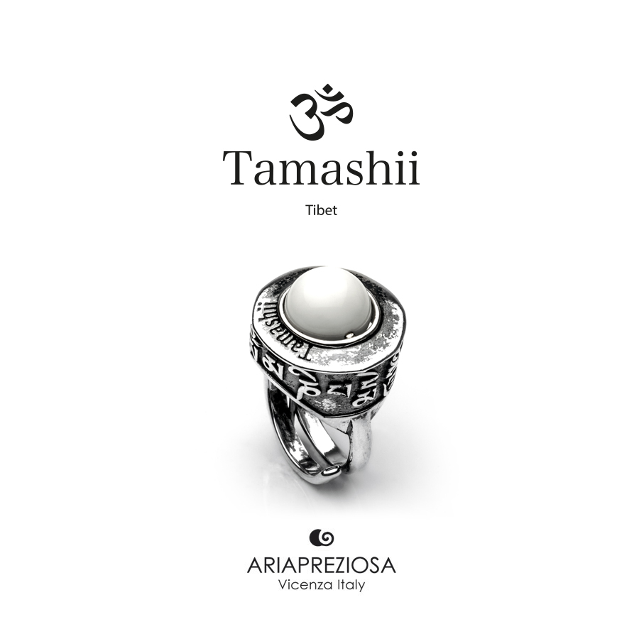 Tamashii Ring PAN ZVA White Agate