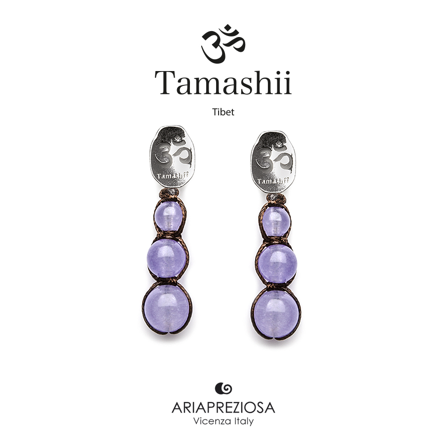 Tamashii Silver Earrings Lavender Jade