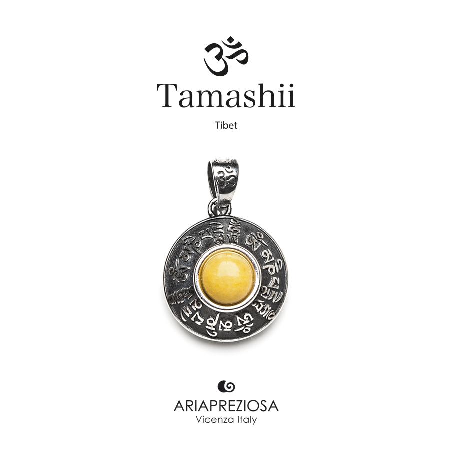 Tamashii Silver Pendant RIG ZVA Yellow Agate