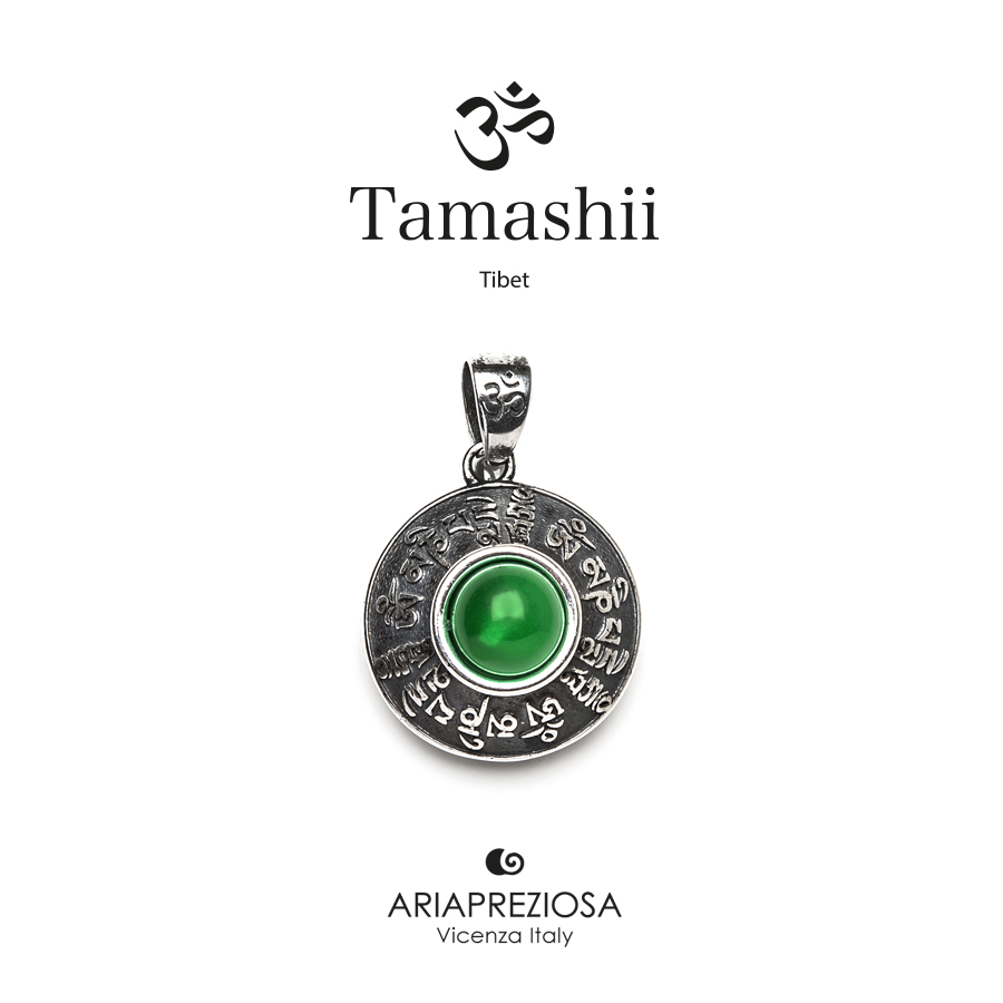 Tamashii Silver Pendant RIG ZVA Green Agate
