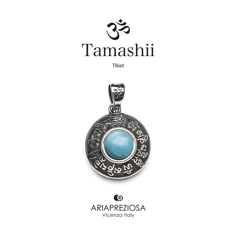 Tamashii Silver Pendant RIG ZVA Blue Sky Jade