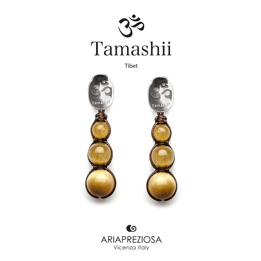 Tamashii Silver Earrings Tiger's Eye