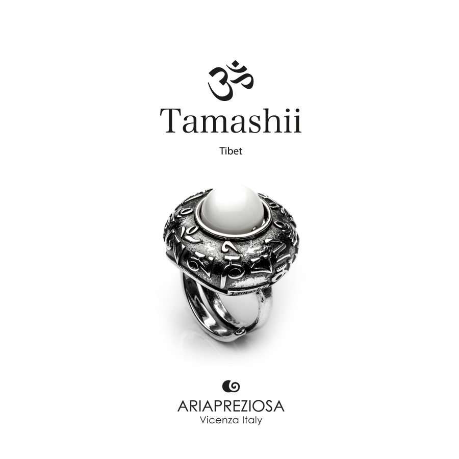Tamashii Ring DVAGS ZVA White Agate