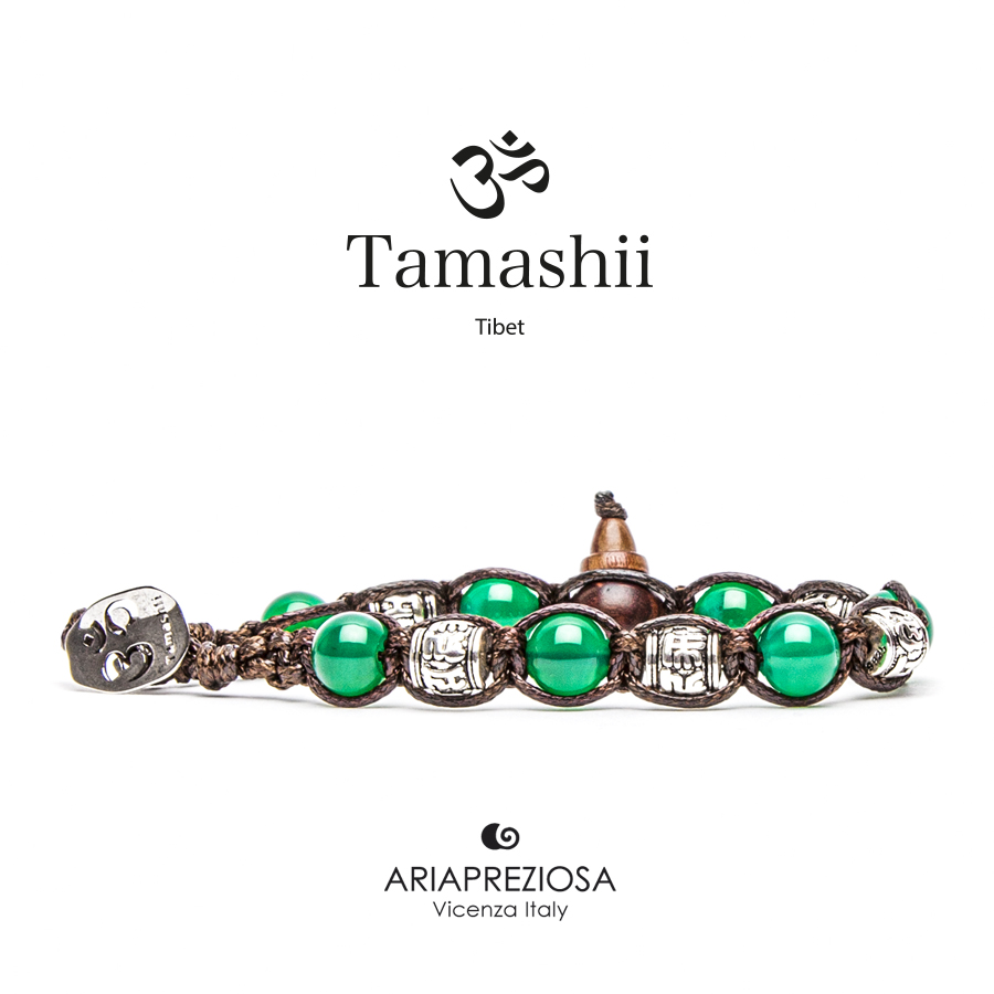 Tamashii Prayer Wheel Green Agate
