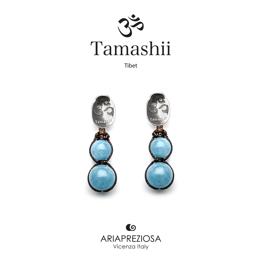 Tamashii Silver Earrings Blue Sky Jade