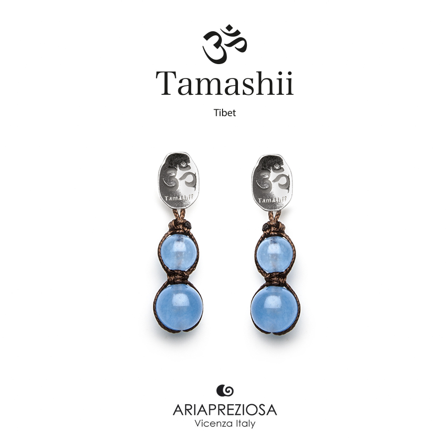 Tamashii Silver Earrings Ocean Agate