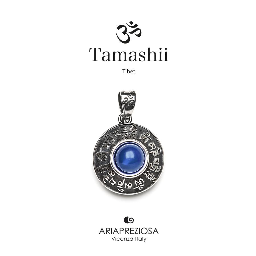 Ciondolo Tamashii Argento RIG ZVA Agata Blu