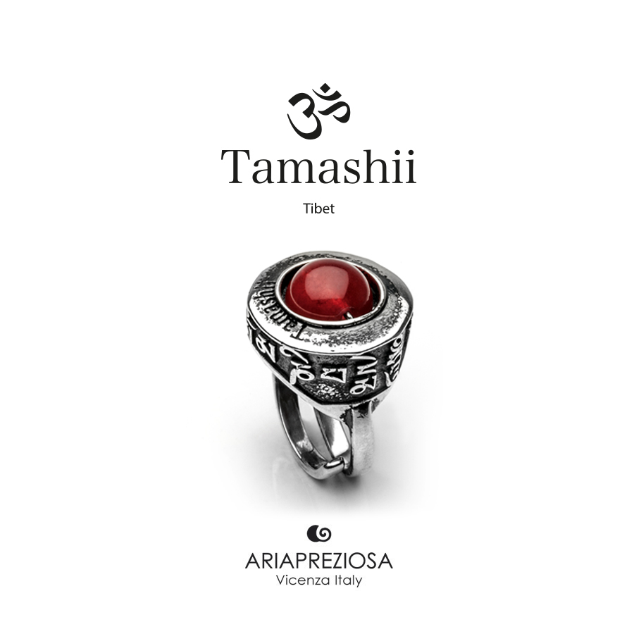 Tamashii Ring PAN ZVA Red Passion Agate