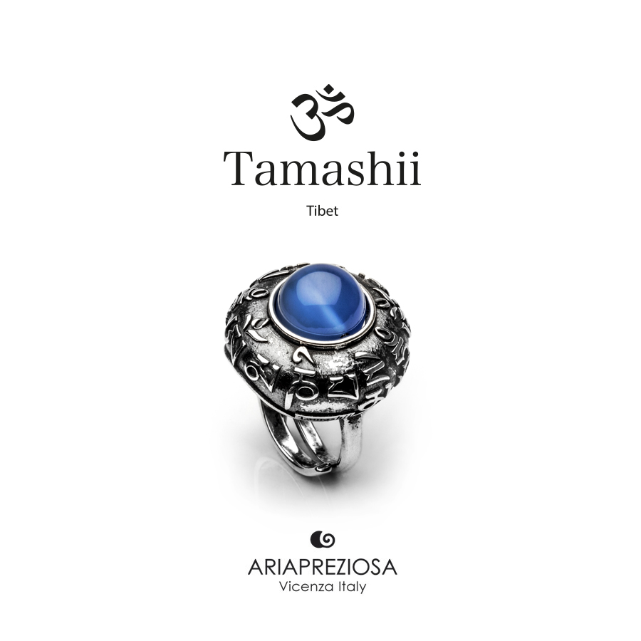 Tamashii Ring DVAGS ZVA Blue Agate