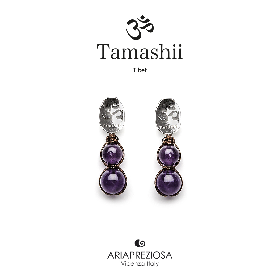 Tamashii Silver Earrings Amethyst