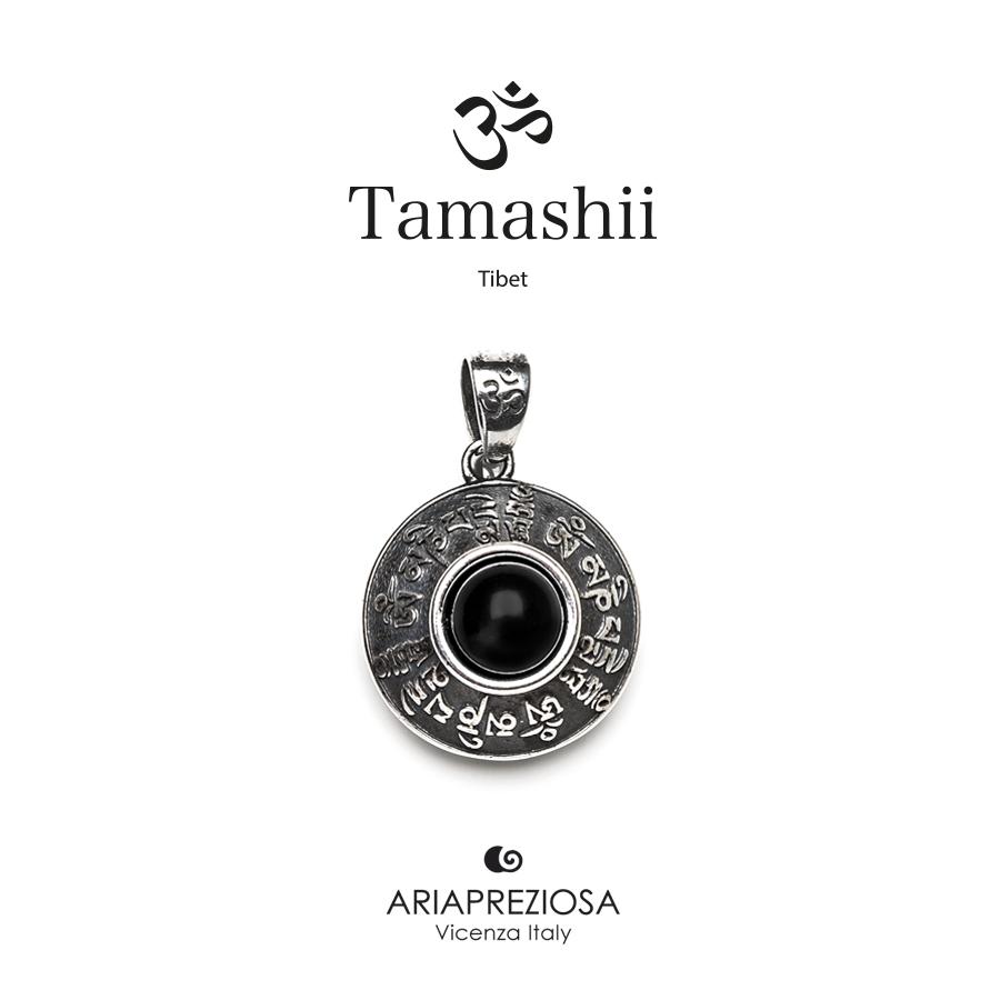 Tamashii Silver Pendant RIG ZVA Onyx