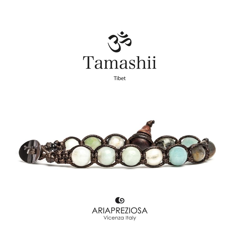 BHS900-183 TAMASHII BRACCIALE ORIGINALE TIBETANO DIASPRO INDU/'