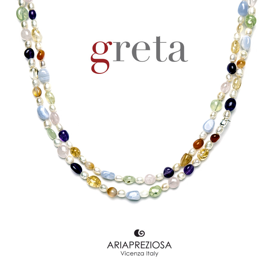 Collana Pietre Multicolor