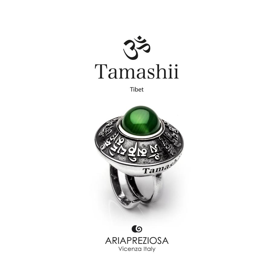 Tamashii Ring RIG ZVA Green Agate