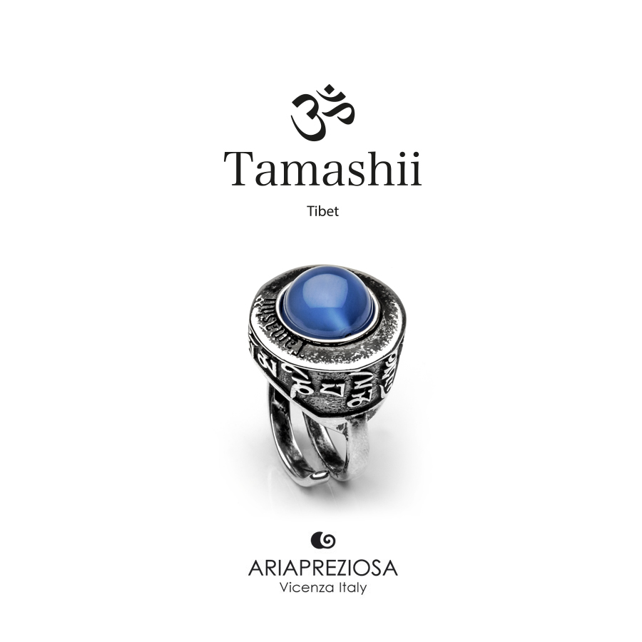 Tamashii Ring PAN ZVA Blue Agate