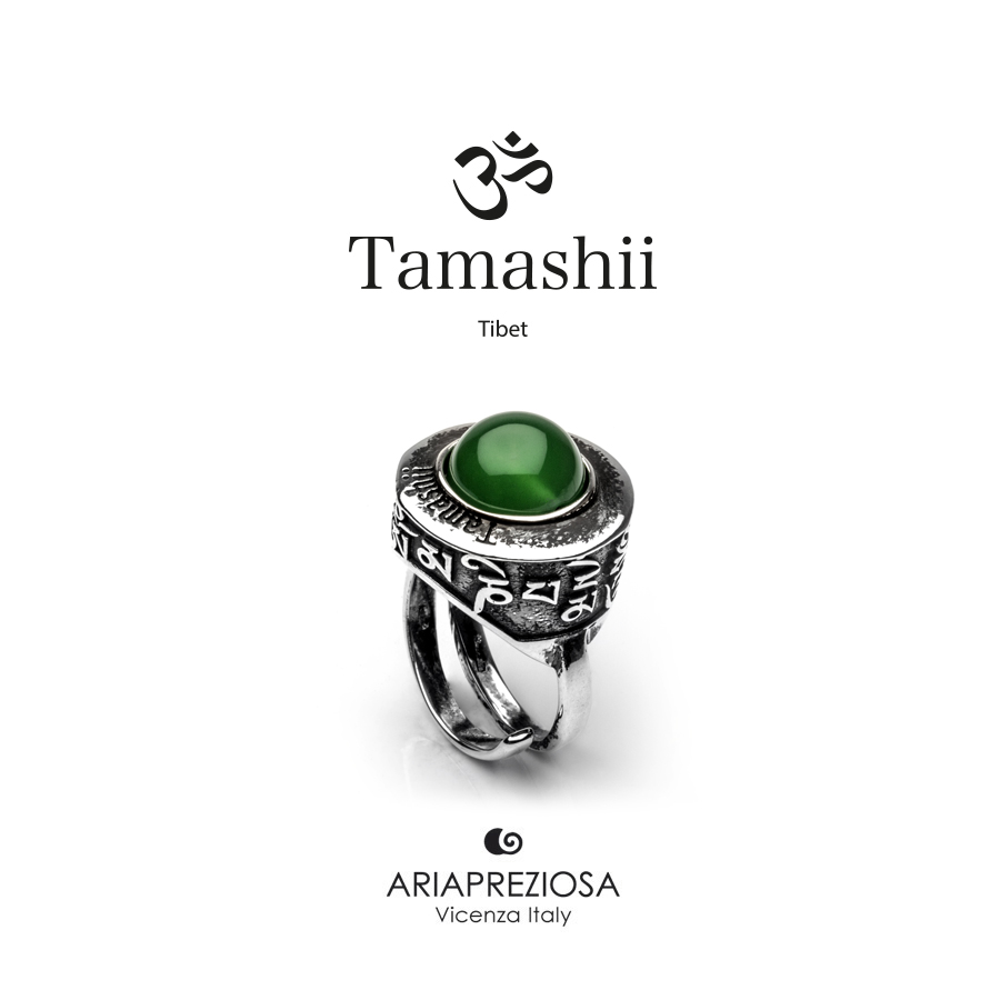 Tamashii Ring PAN ZVA Green Agate