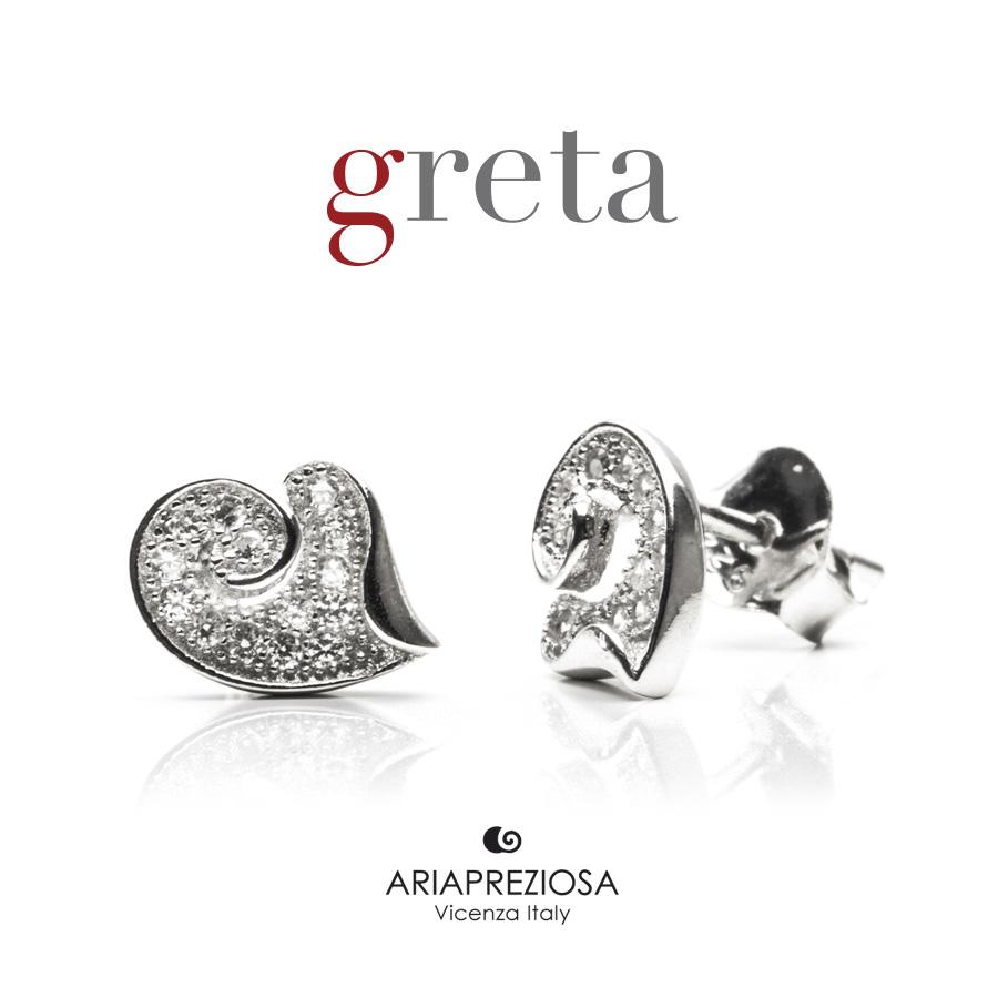 Orecchini in Argento - Cuore a Spirale