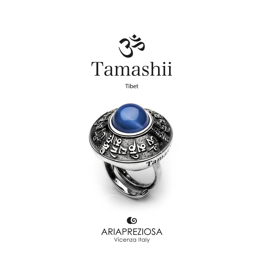 Anello Tamashii RIG ZVA Agata Blu
